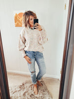 Funfetti Pouf Sleeve Sweater
