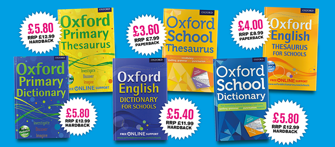 The Secret's out! 55% off Oxford Dictionaries & Thesauruses