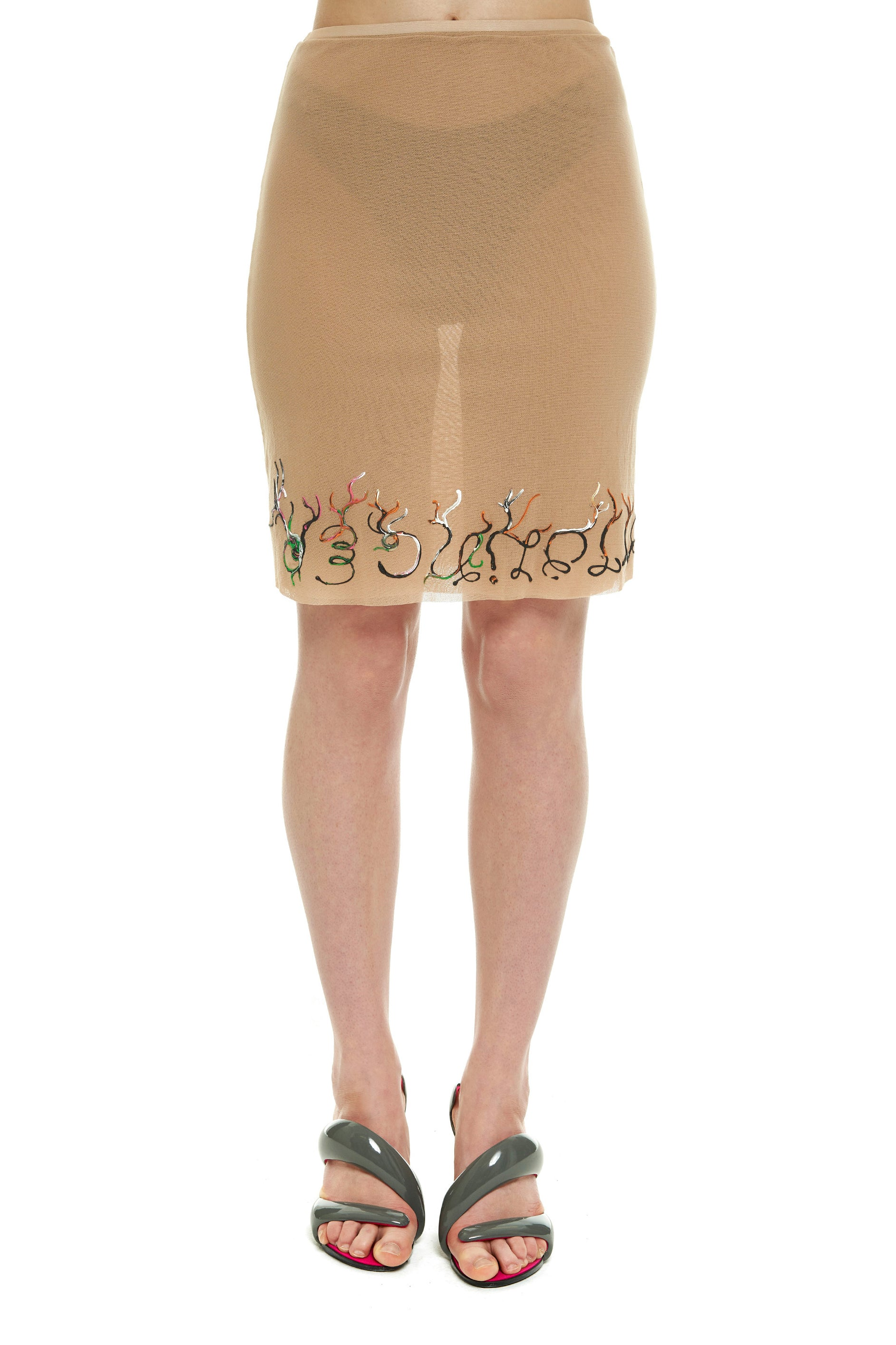 Hand Painted Mesh Skirt