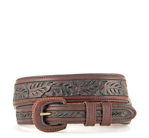 Vogt Taper Scived Leaf Saddle Brown Belt #041-119