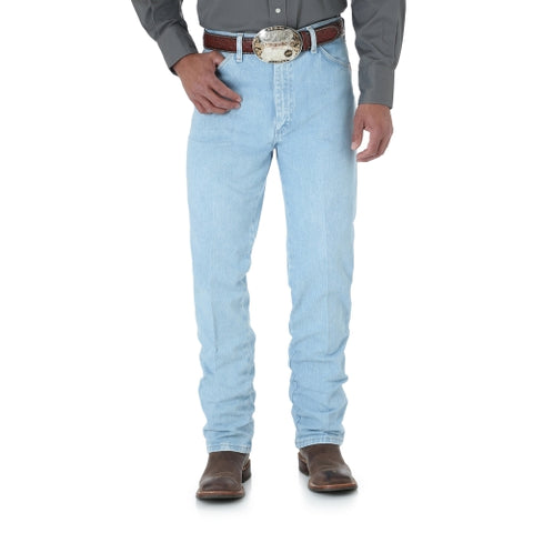 Men's Wrangler Cowboy Cut Gold Buckle Slim Fit Bleach #0936GBH