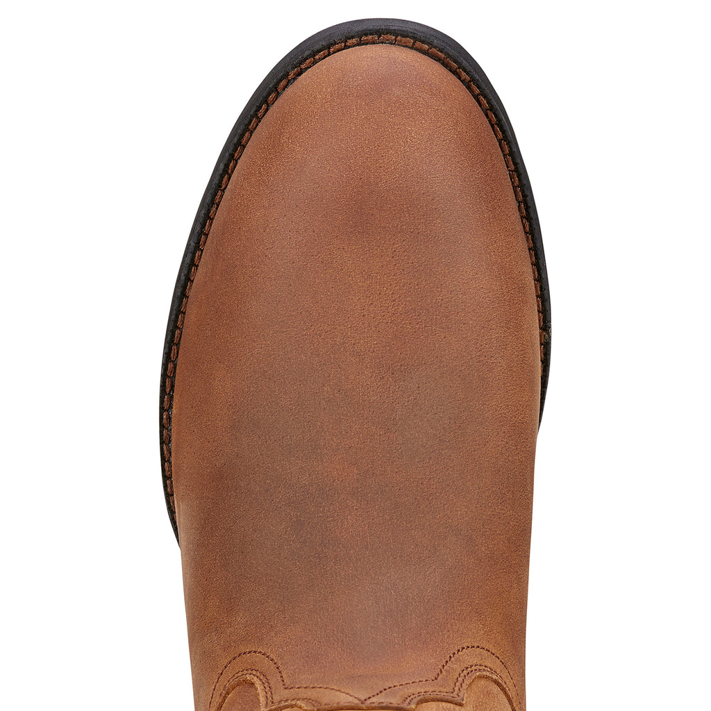 Men's Ariat Roper Distressed Brown #10002284 view 3