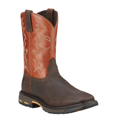 Men's Ariat Workhog Wide Square Toe Boots #10005888