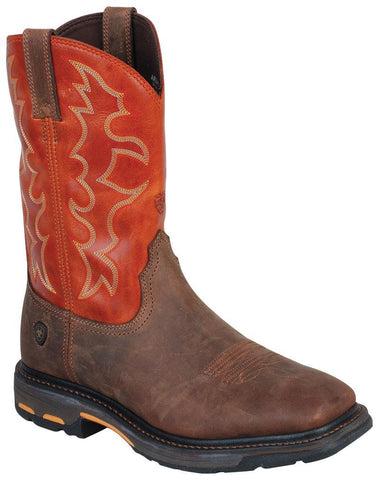 Men's Ariat Steel Toe Workhog Earth #10006961