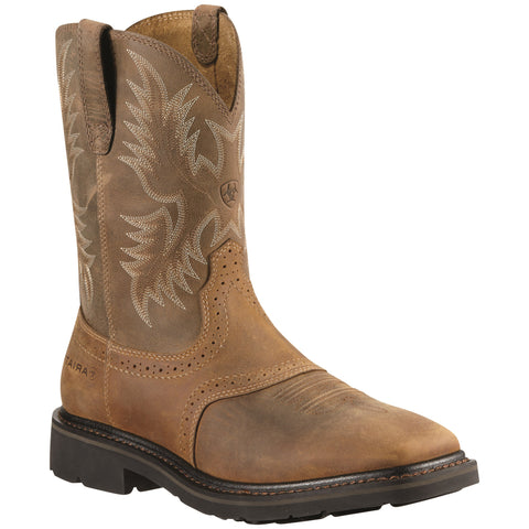 Men's Ariat Sierra Steel Toe Boots Aged Bark #10010134