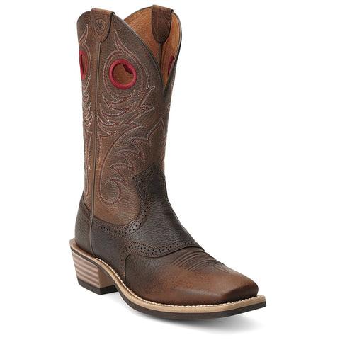Men's Ariat Heritage Roughstock Boots Brown Oiled Rowdy #10012788
