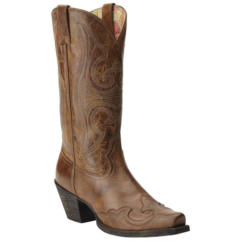 Women's Ariat Round Up Wingtip Boots Sandstorm #10015290