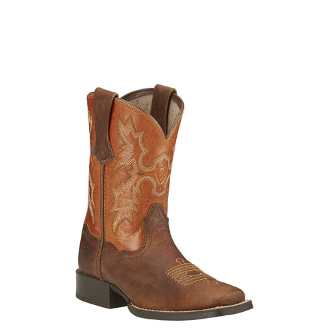 Kid's Ariat Tombstone Boots Powder Brown and Sunnyside #10016227
