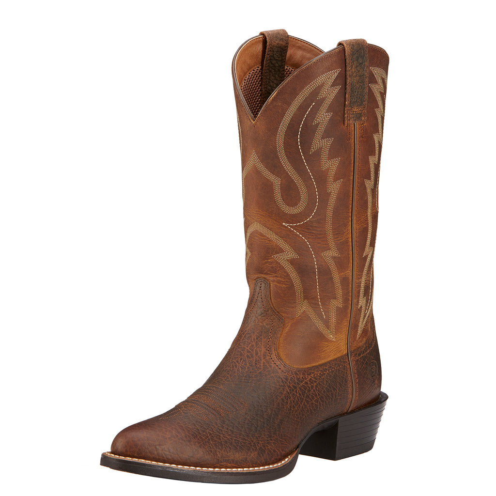 Men's Ariat Sport R Toe Boots Earth and Sable #10016366 view 2