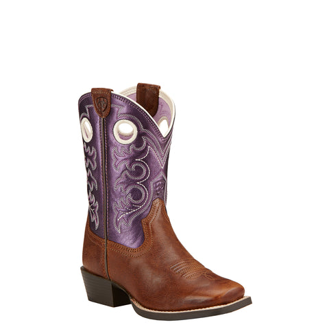 Kid's Crossfire Boots Wood and Sparkle Purple #10017312