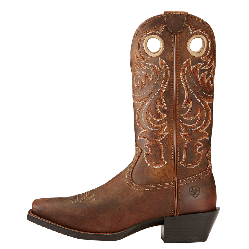 Men's Ariat Sport Square Toe Boot Powder Brown #10017365 view 2