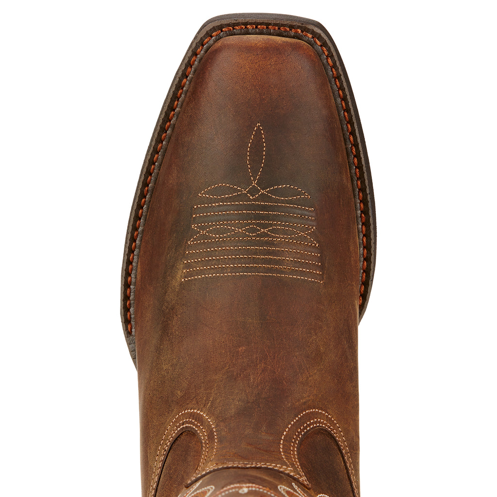 Men's Ariat Sport Square Toe Boot Powder Brown #10017365 view 4