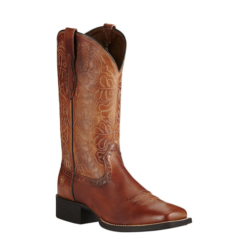 Women's Ariat Round Up Remuda Rich Brown Boots #10019905