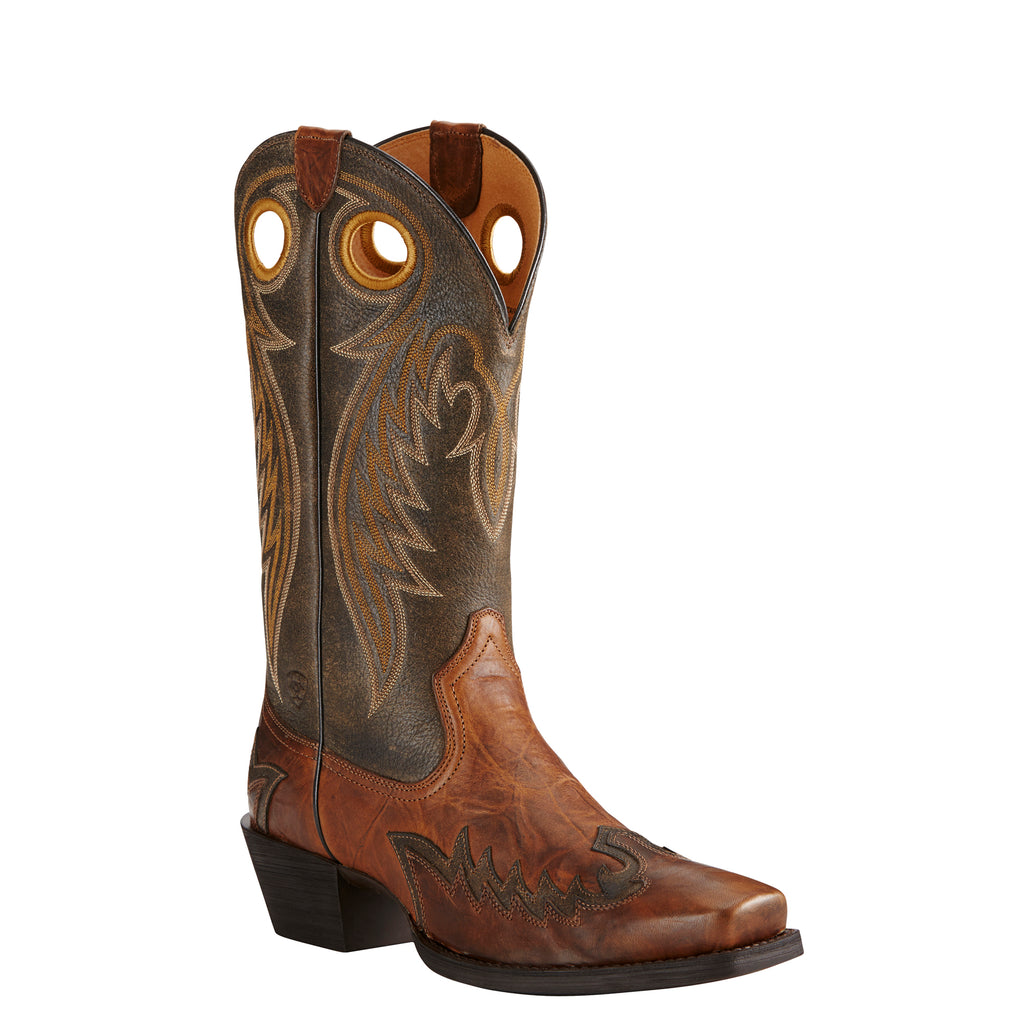 Men's Ariat Boots Rival Barn Brown/Brooklyn Brown #10019988 view 1