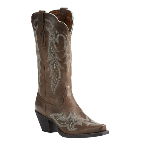 Women's Ariat Round Up Renegade Bar Brown Boots #10021581