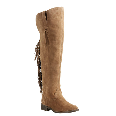 Women's Ariat Farrah Fringe Dirty Brown Boots #10021588