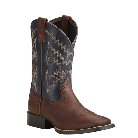 Kid's Ariat Tycoon Western Boot Brazen Brown #10021591
