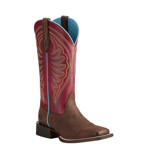 Women's Ariat Circuit Shiloh Weathered Brown Boots #10021612
