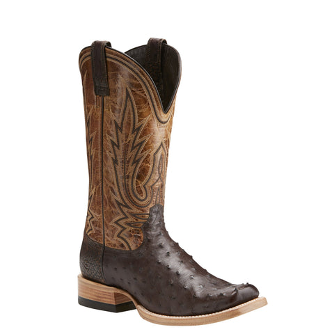 Men's Ariat Boots All Around Full Quill Nicotine #10021668