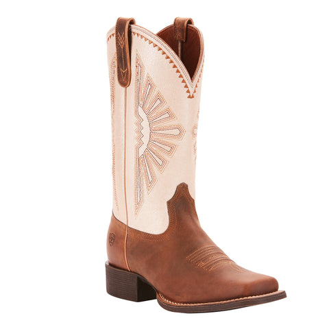 Women's Ariat Round Up Rio Boot Distressed Brown #10025036