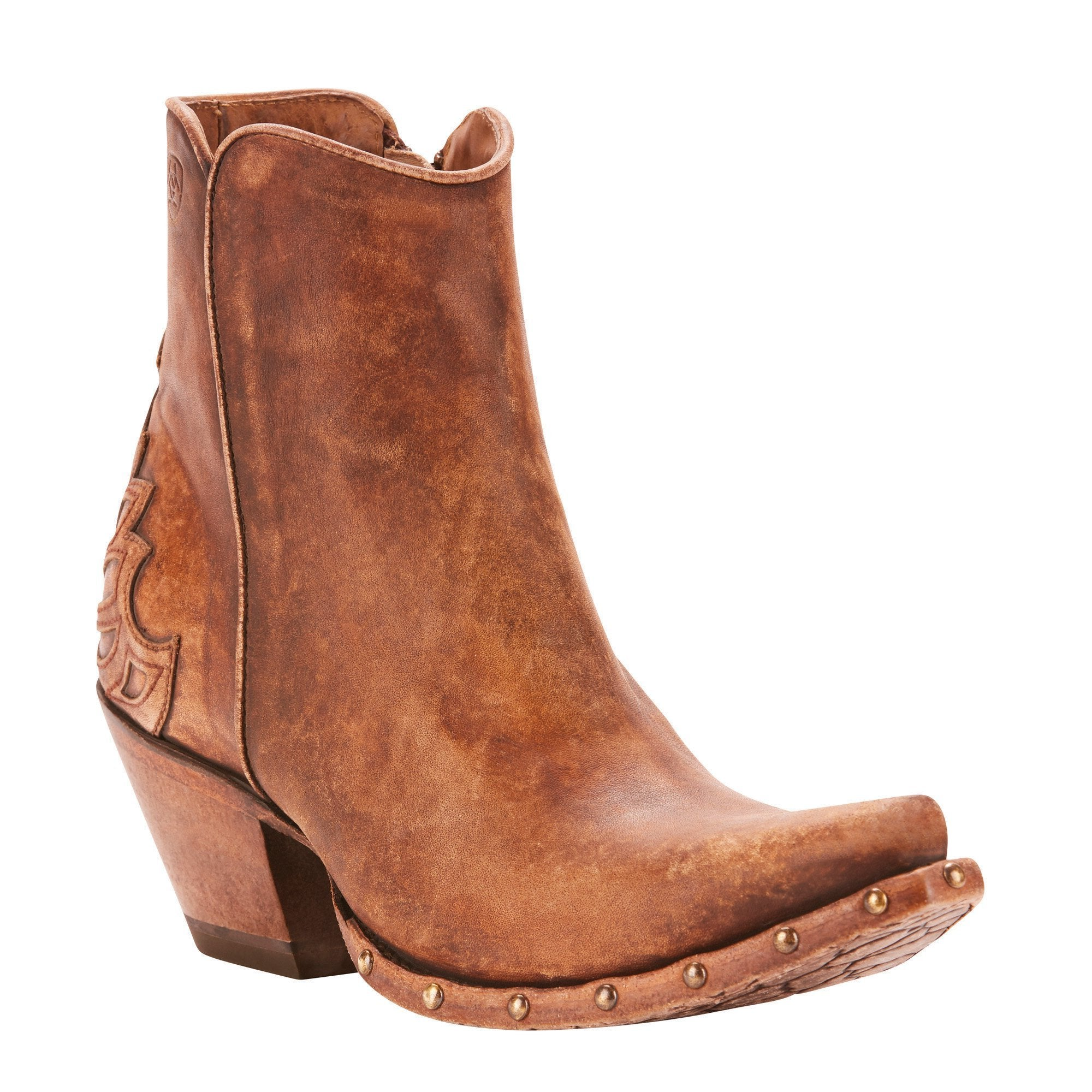 c4a37896b7c8d Women's Ariat Fenix Western Ankle Boot Distressed Taupe #10025110 ...