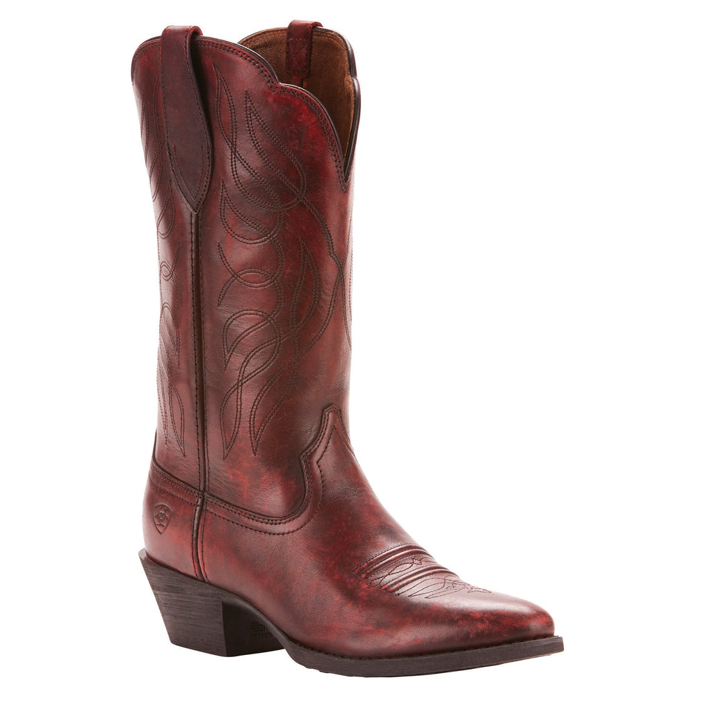 Women's Ariat Heritage R Toe Western Boot Ombre Red #10025124 view 1