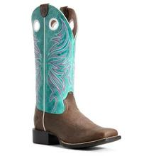 Women's Ariat Round Up Ryder Boots Sassy Brown/Miami Blue #10029751