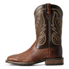 Men's Ariat Promoter Boots Matte Brown Smooth Quill Ostrich #10029775