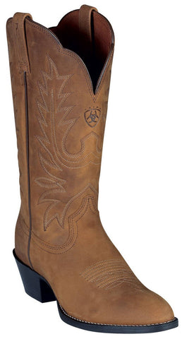 Women's Ariat Heritage Western Boots R Toe Distressed Brown #15725