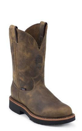 Men's Justin Ruggets Tan Gaucho Boots #4440