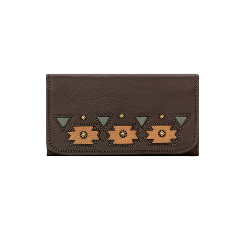 Chenoa Ladies' Tri-Fold Wallet - Chocolate #5350282