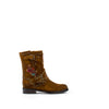 Women's Frye Nat Flower Engineer Boots Wheat #75700-WHE