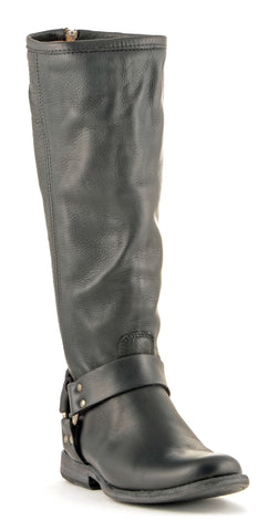 Women's Frye Phillip Harness Black #76850-BLK