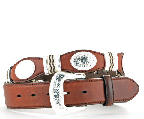 Brighton Leegin Brown Cutting Champ Belt #9117L