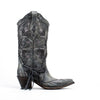 Women's Corral Boots Black and Grey Laser #A3079