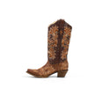 Women's Corral Boots Brown Lizard Inlay Embroidery #A3328