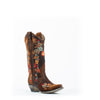 Women's Corral Lamb Floral with Embroidery Boots Chocolate #A3597