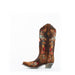 Women's Corral Lamb Floral with Embroidery Boots Chocolate #A3597 view 5