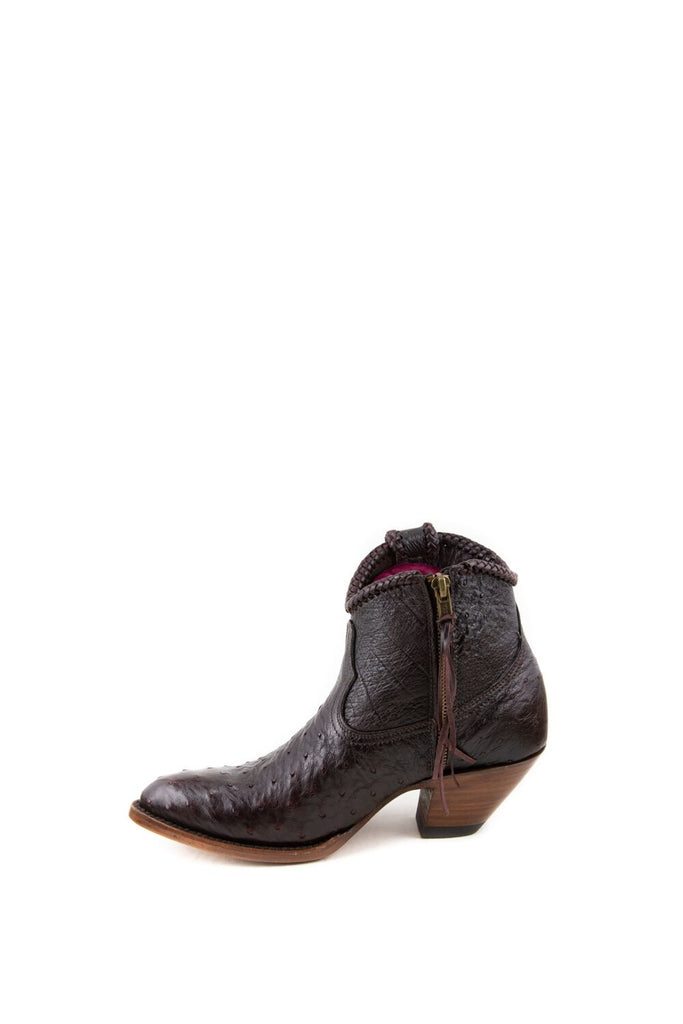 Women's Allens Brand Brooke Boots Black Cherry Ostrich #ALL-BROOKEXOTIC5FR-3 view 5