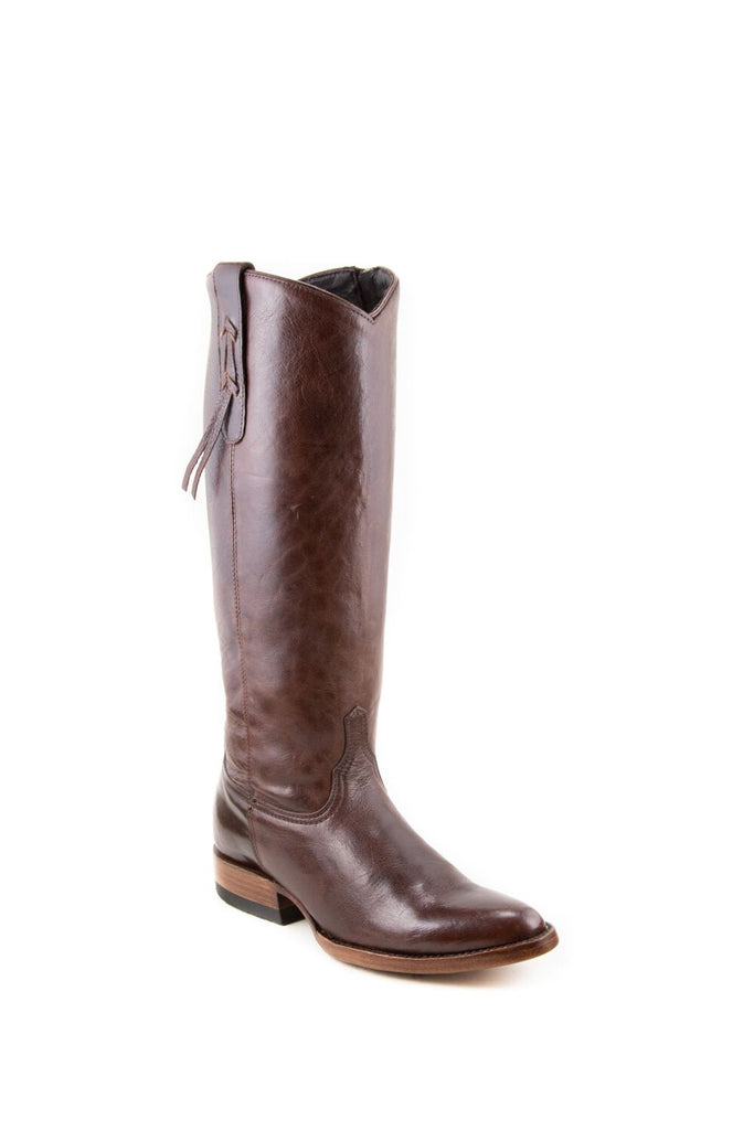 Women's Allens Brand Ginger Boots Red Brown #ALL-GINGER14FR-1 view 1