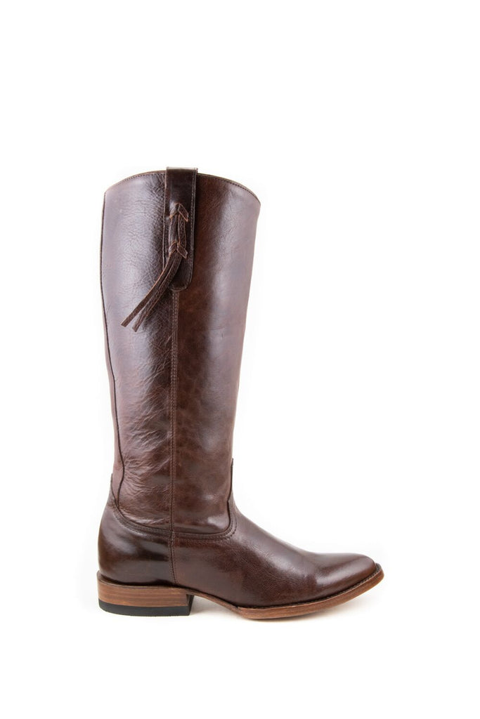 Women's Allens Brand Ginger Boots Red Brown #ALL-GINGER14FR-1 view 6