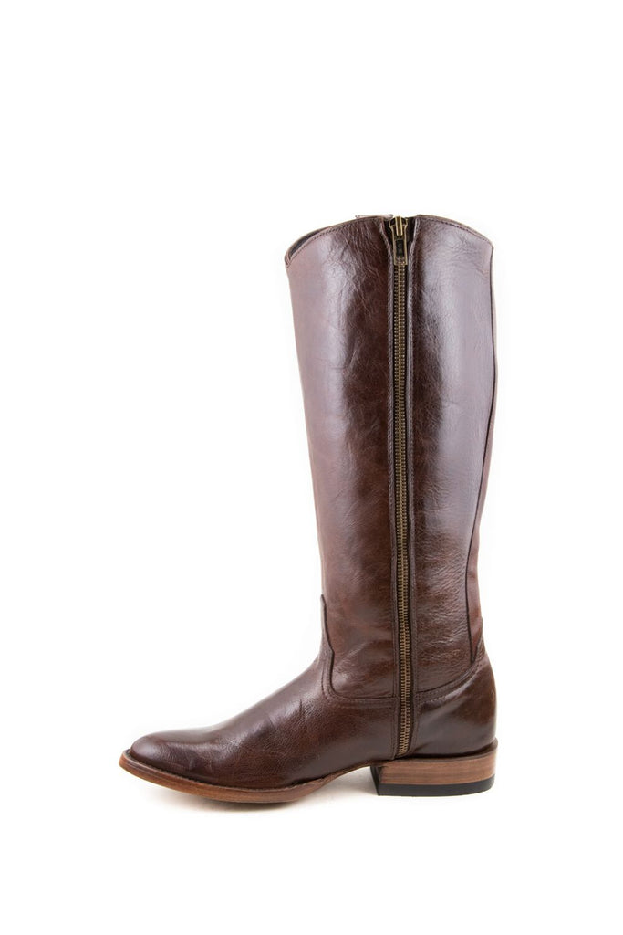 Women's Allens Brand Ginger Boots Red Brown #ALL-GINGER14FR-1 view 2