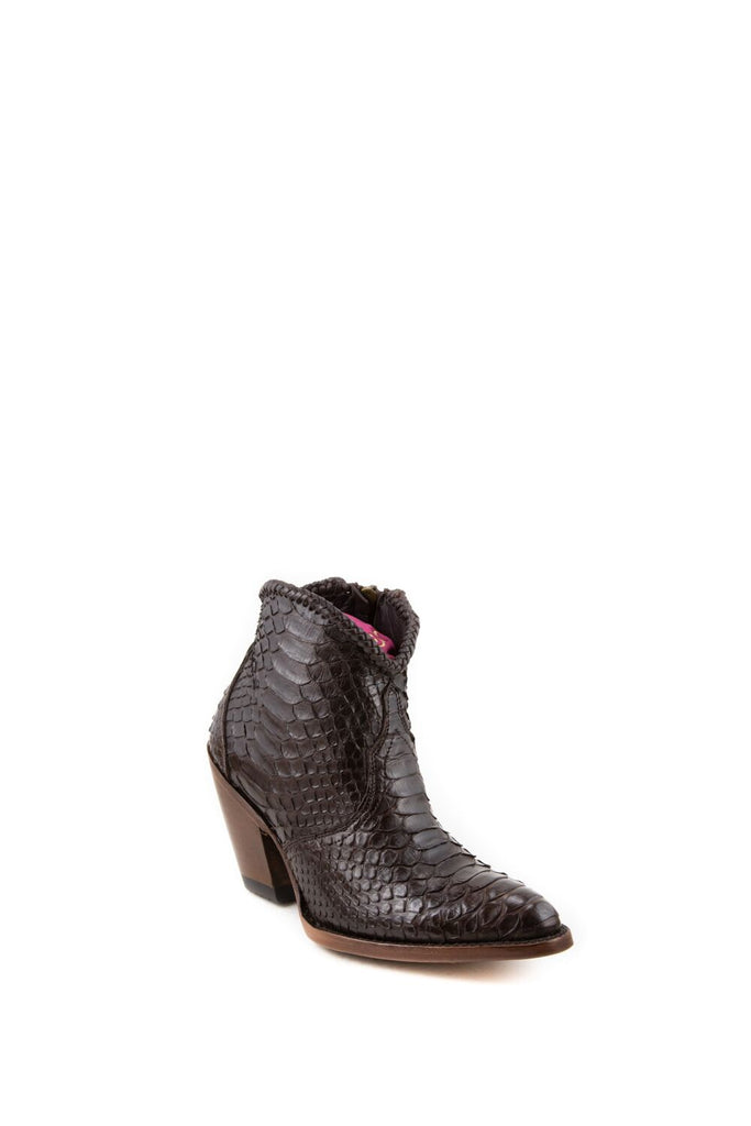 Women's Allens Brand Kyra Boots Chocolate Python #ALL-KYRAEXOTIC4FR-2 view 1