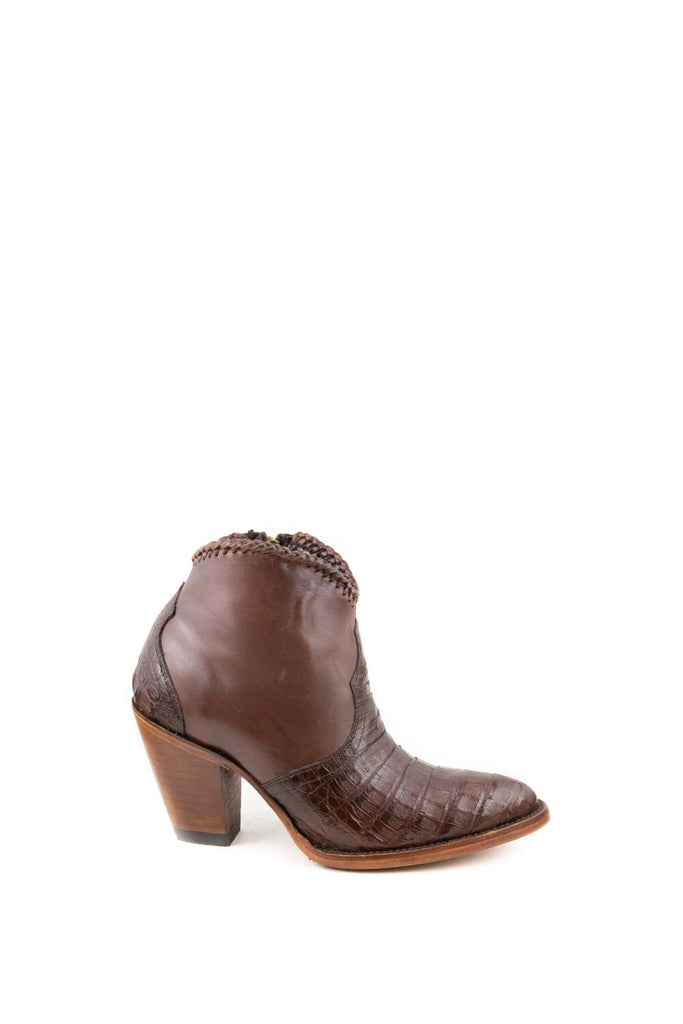 Women's Allens Brand Kyra Exotic Boots Tobacco Caiman #ALL-KYRAEXOTIC4FR-4 view 6