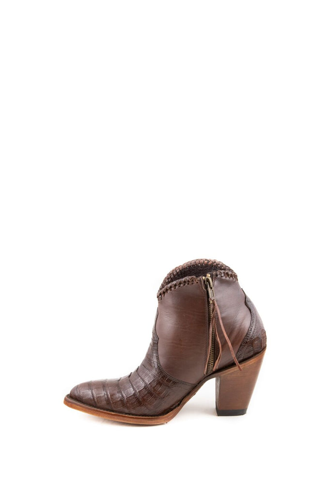 Women's Allens Brand Kyra Exotic Boots Tobacco Caiman #ALL-KYRAEXOTIC4FR-4 view 2