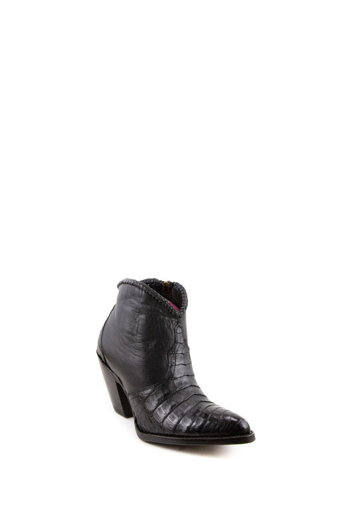 Women's Allens Brand Kyra Exotic Boots Black Caiman #ALL-KYRAEXOTIC4FR-5 view 1