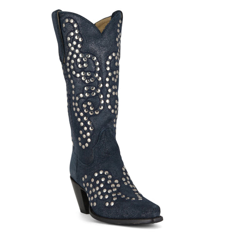 Women's Caborca by Liberty Black Asheville Boots Diamond Blue #AB-28805