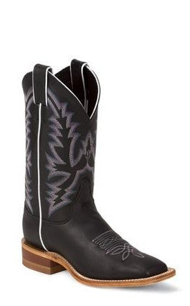 Women's Justin Calf Black Burnished #BRL316