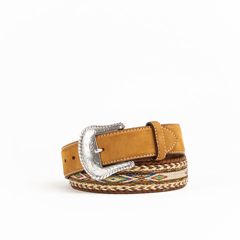 Tony Lama Straight Badlands Horse Hair Belt #7289L