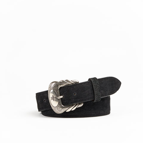 Allens Boots Exclusive Straight Black Hippo Belt #5HH-A
